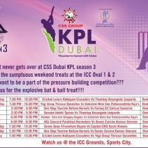 Excitement never gets over at CSS KPL Dubai Season 3